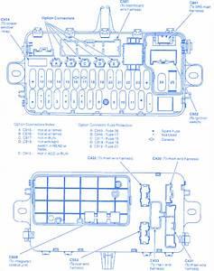 Honda Del Sol 1995 Fuse Box  Block Circuit Breaker Diagram