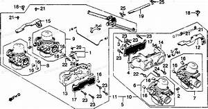 Honda Motorcycle 1981 Oem Parts Diagram For Carburetor Assy