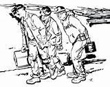 Coal Pages Coloring Mining Miner Drawing Excavator Getdrawings Getcolorings Printable sketch template