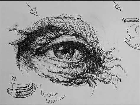 ink drawing tutorials   draw eyes
