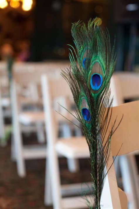 Simple Peacock Aisle Decor Weddingbee Photo Gallery