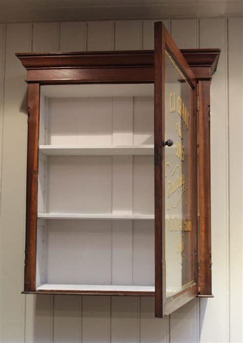 Wall To Wall Cupboards by Oak Glazed Wall Cabinet Antiques Atlas