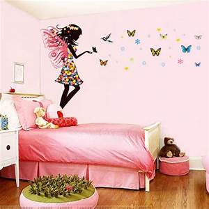 Aliexpress buy fairy girl colorful butterflies wall