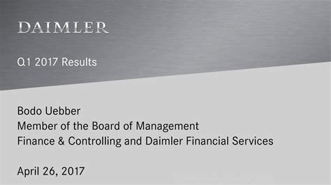 daimler ag 2017 q1 results earnings call slides