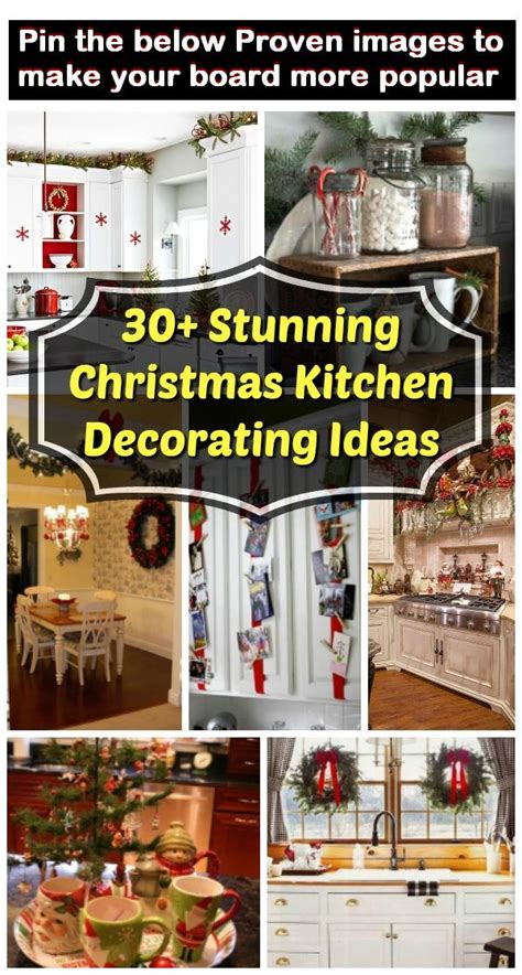 stunning christmas kitchen decorating ideas