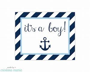 INSTANT DOWNLOAD, nautical baby shower, printable sign, it