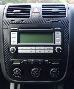 vw golf mk5 jetta bora carbon fibre effect climatronic dash air vents c ebay
