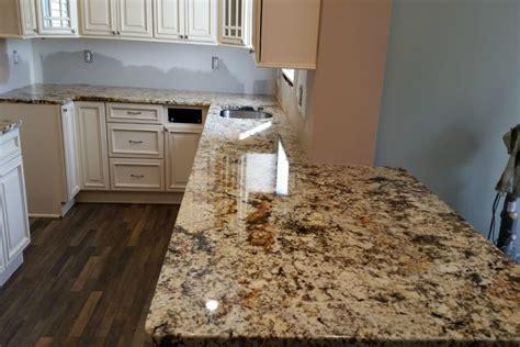 giallo fiorito granite countertop installation pics in