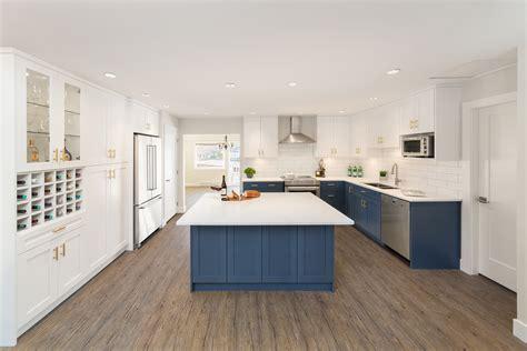 blue cabinets deliver punch  kitchen reno modern home