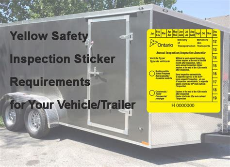 bureau inspection automobile when is a yellow sticker required for motor vehicles