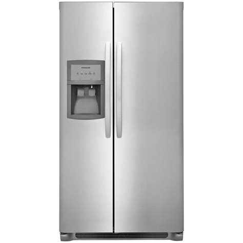 frigidaire refrigerator ffss2625ts frigidaire 36 quot 25 5 cu ft side by side