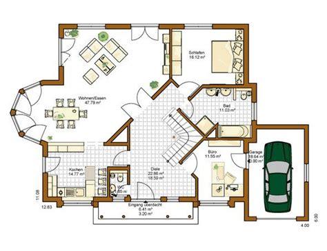 Moderne Häuser Und Grundrisse by Haus Grundriss Modern Bungalow Plus Erstaunlich Akzent