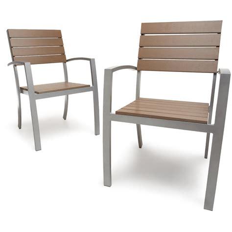 chaise d extérieur strathwood brook set de 2 chaises de jardin avec