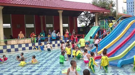 Slides For Kids In Water Park With Big Fish
