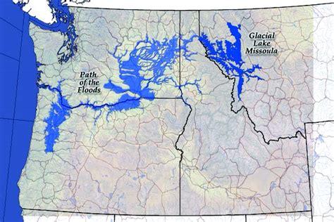 Figure 1. Map of Glacial Lake Missoula