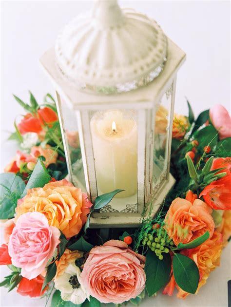 Lantern Centerpiece with Flower Wreath Elizabeth Anne