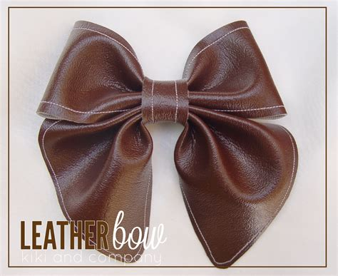 leather bow template project run and play winner s tutorial leather bows with