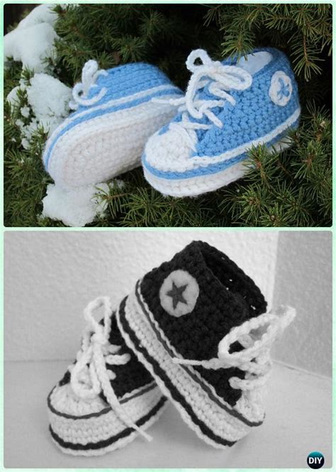 crochet baby booties slippers  patterns instructions