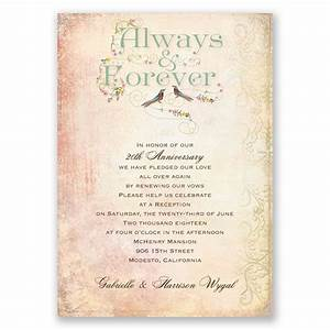 Always and forever vow renewal invitation vow renewal for Examples of wedding renewal invitations