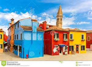 Venice Italy Colorful Houses