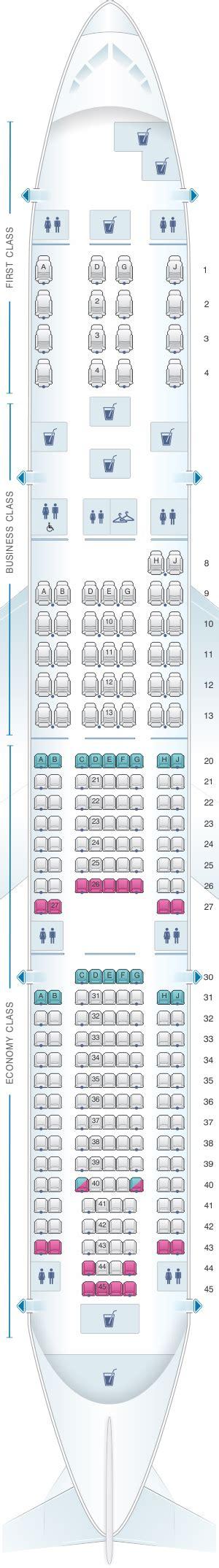 boeing 777 200 sieges plan de cabine airlines boeing b777 200