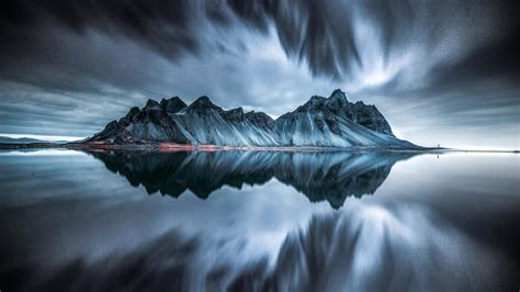 Wallpaper Mountains Vesturhorn Batman Mountain Iceland