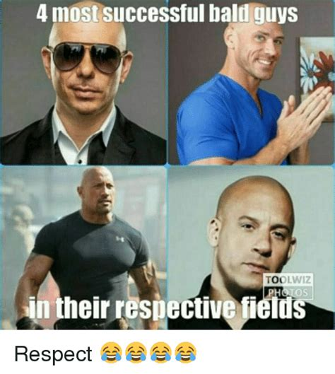 Baldness Meme - 4 most successful bald guys too in their respective fields respect meme on me me