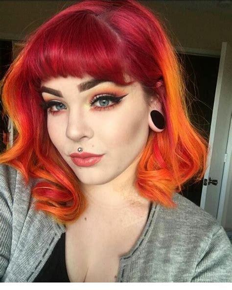 Pin By Hayden On Hair Sunset Hair Hair Red Orange Hair