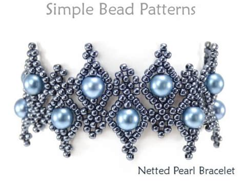 Diy Bracelet Beaded Netting Instructions Jewelry Making