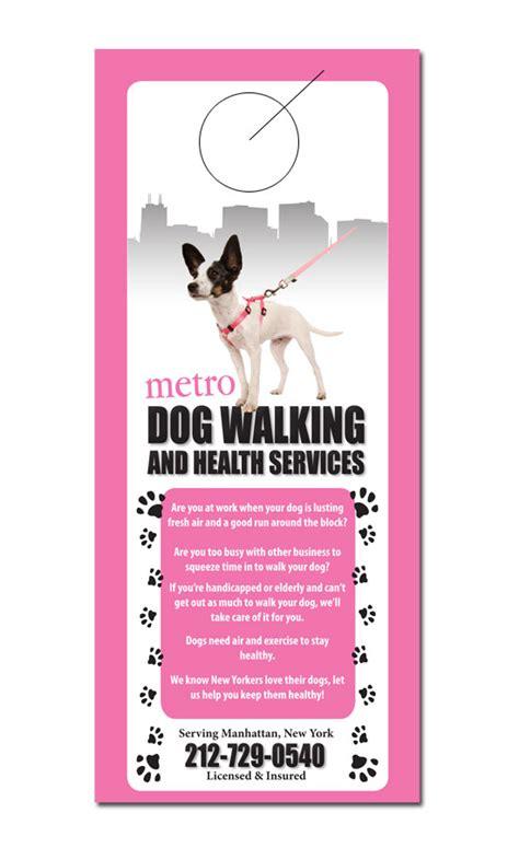 walking flyer template free pet service door hanger sles