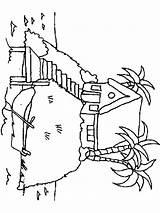 Island Coloring Insel Ausmalbilder Malvorlagen Ausdrucken Kostenlos Zum Template sketch template