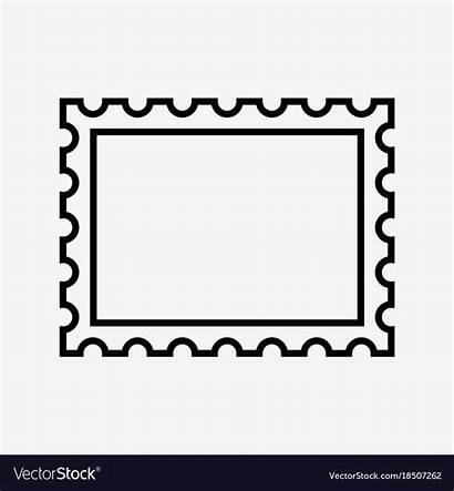 Stamp Postage Vector Icon Illustration Background Royalty
