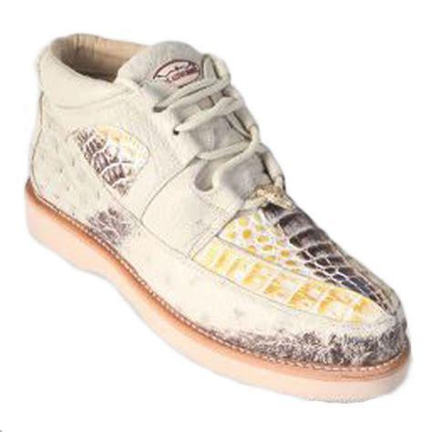 Los Altos Caiman Belly Ostrich Casual Shoes Natural