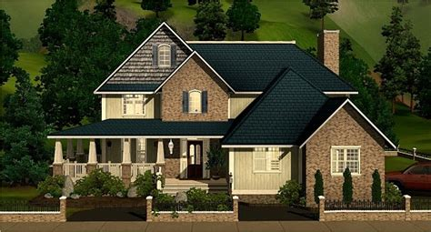 sims  blog large family home   sims