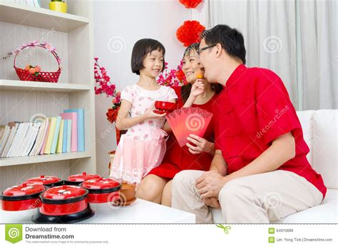 New Celebrate Family Friends Life: Chinese New Year Stock Photo