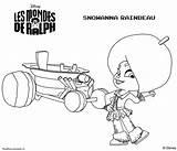 Ralph Wreck Coloring Pages Snowanna Mondes Les Fudge Rainbeau Characters Disney Sheets Template sketch template