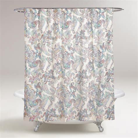 Multicolor Paisley Shower Curtain  World Market