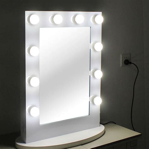 white makeup mirror with lights vanity lighted