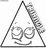 Triangle Coloring Pages Print Colorings sketch template