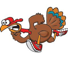 Turkey Running In A Turkey Trot Template by Thanksgiving Turkey Sticker For Ios Android Giphy