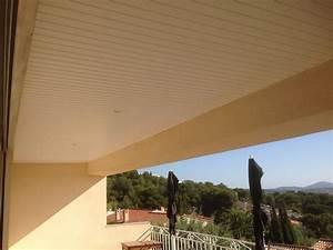 Faux Plafond Pvc : faux plafond pvc d 39 une terrasse de maison le lavandou ~ Melissatoandfro.com Idées de Décoration