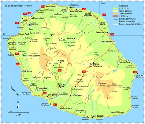 Petite-ILE - Carte plan hotel ville de Petite-le 97429