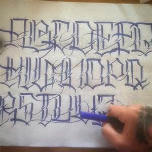 Chicano Tattoo Lettering Styles Alphabet