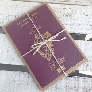 Ireland wedding passport invitations invites day by for Etsy wedding invitations ireland