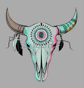 Crane Mexicain Dessin : tete mexicaine le style ethnique cr ne de taureau gravure illustration taureau pinterest ~ Melissatoandfro.com Idées de Décoration