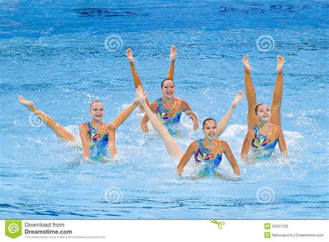 synchronized swimming kazakhstan editorial photography