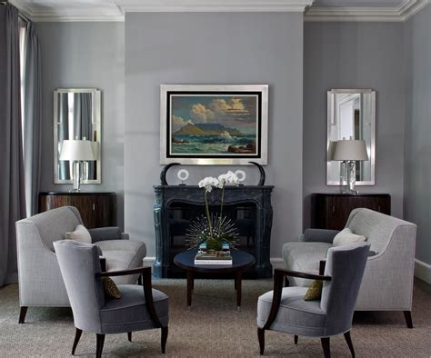 Gray Living Room Blue Kitchen by Gray Living Room Vogue Chicago Contemporary Living