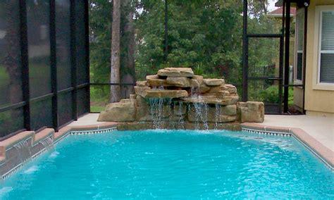 jacksonville pool waterfall design beautiful custom waterfalls   pool deck