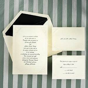 Wedding invitation wa545 70 classic touch for 70 s wedding invitations