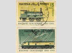 Railway Centenary 18611961 #pakistan postage stamp